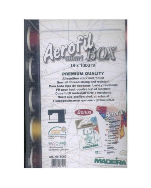 Smart Box con 18 filati da cucito Aerofil